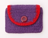 Small felted wool wallet / card holder