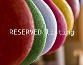 RESERVED for Emily- two medium size lampshades