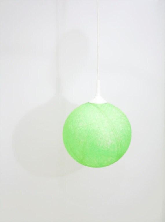 Handmade lamp, lamp shade, pendant light, ceiling, hanging lamp, Contemporary design Fresh Lime