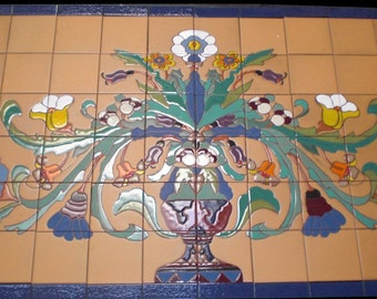 Tree of Life Tile Mural ~ Perfect for Your Small Niche Indoors and Out ~ Kitchen Tile Backsplash, Ceramic Tile