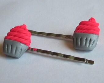 Cupcake Hairpins
