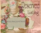 RESERVED LISTING - Vintage SIlver Filigree Sister Pendant