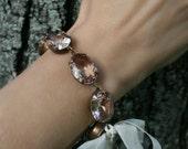 Vintage Style Bracelet, Blush Colored Bracelet, Estate Style, Bow, Blush Bracelet