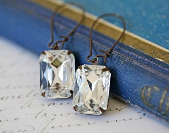 Estate Style Vintage Crystal Earrings