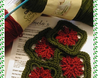 Christmas Crochet Coasters made in the morning