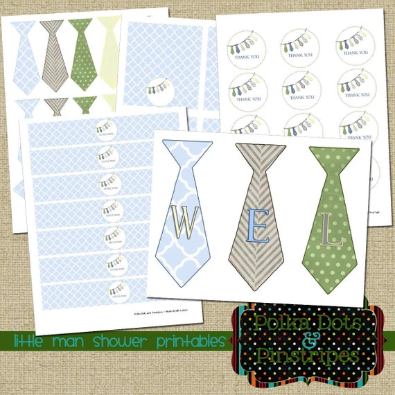 items similar to little man baby shower printables on etsy