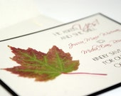 Rustic Autumn Maple Leaf Save the Date Card
