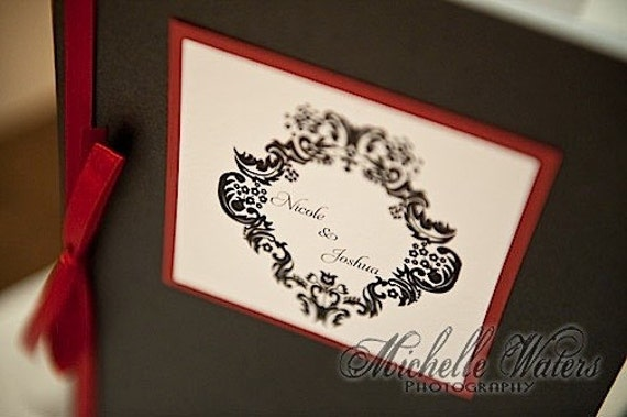 Custom Damask Wedding Program