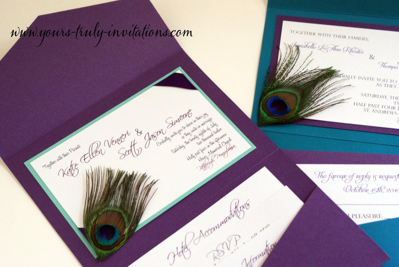 zoom - Peacock Wedding Invitations