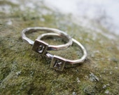 RESERVED - Custom Combo of 4 Sterling Silver Stack Rings - RESRVED for Kelsey