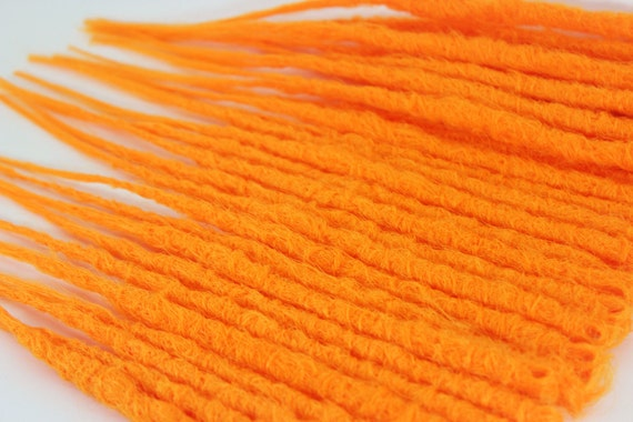 Neon Orange Crochet Dreads - SALE - Ready to Ship