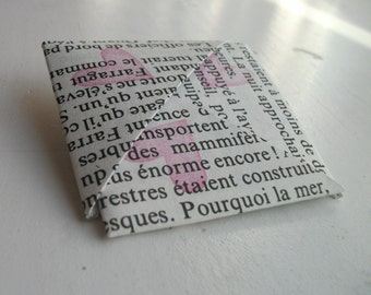 20,000 Leagues Under the Seas, Origami Book Corner - bookmark  - French text