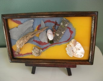 Mixed Media with natural found objects OOAK