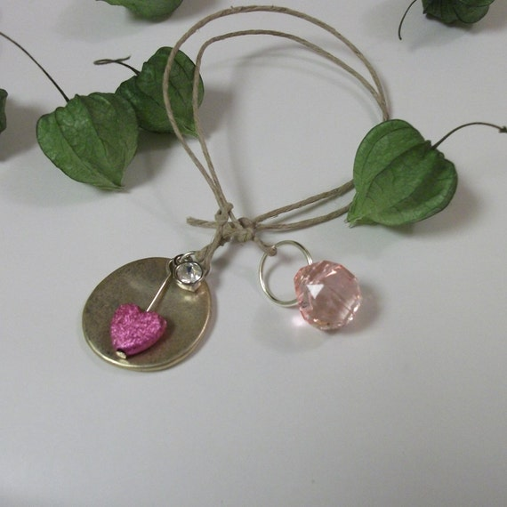 Book Charm - adjustable - Color Therory PINK Love and Beauty (14)