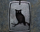 Pewter Owl Pendant Necklace