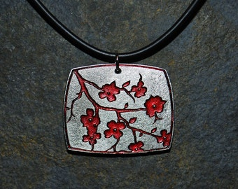 Pewter Dogwood Flower Pendant