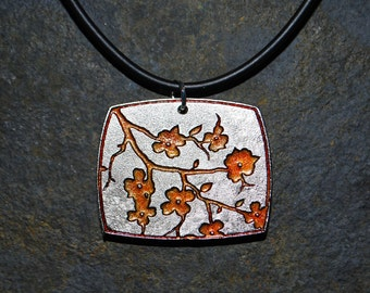 Pewter Dogwood Flower Necklace Pendant