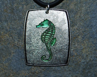 Pewter Seahorse Pendant Necklace