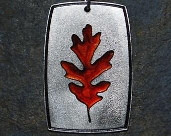 Pewter Oak Leaf Pendant Necklace
