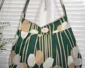 Missy's Everyday Bag / Pleated Hobo Bag / Everyday Shoulder Bag - Spring Collection - Tulips