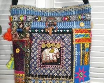 FREE Shippng to USA - Maycas OAK Jewelled Boho Gypsy Bohemian Ethnic  Shoulder Bag