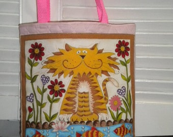 Cartoon Animal Childrens Tote / Small Diaper / Lunch Pouch Bag