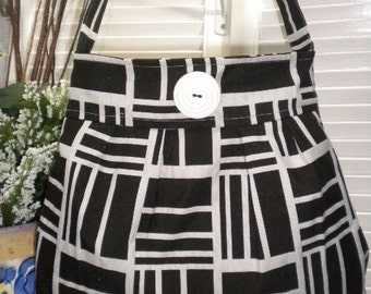 Missy's Everyday Bag / Pleated Hobo Bag / Everyday Shoulder Bag in Black & White