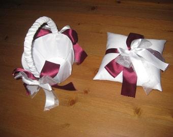 Custom Ring-bearer pillow and Flower-girl basket