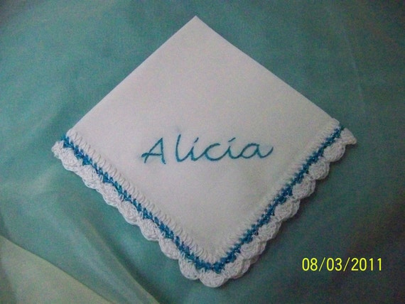 Custom Embroidered Handkerchief / Hanky / Other Colors Welcome
