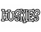 Instant Download Huskies Embroidery Machine Applique Design-581
