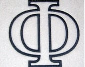Instant Download Greek Alphabet Embroidery Machine Applique Design-728