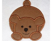 Instant Download Bear Embroidery Machine Applique Design- 615