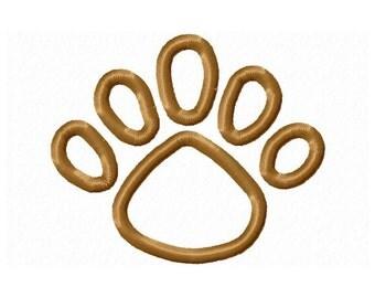 Instant Download Lion Paw Print Embroidery Applique Design-577