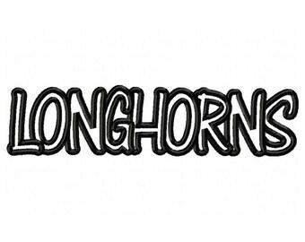 Instant Download Longhorns Embroidery Machine Applique Design-569