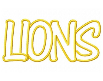 Instant Download Lions Embroidery Machine Applique Design-579