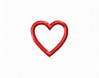 Instant Download Small Heart Embroidery Machine Applique Design-693