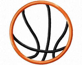 Instant Download Basketball Embroidery Machine Applique Designs-536
