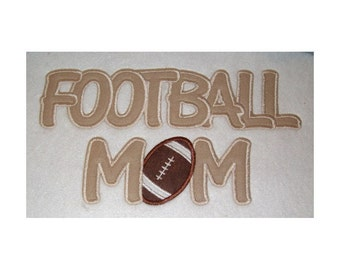 Instant Download Football Mom Embroidery Machine Applique Design 680
