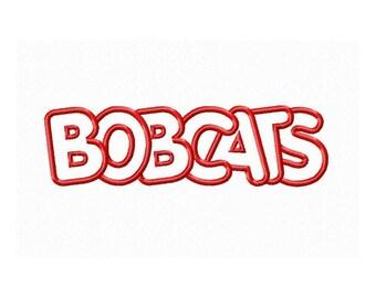 Instant Download Bobcats Embroidery Machine Applique Design-647