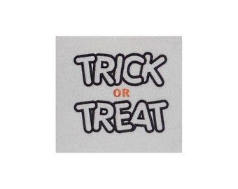 Instant Download Trick Or Treat Embroidery Machine Applique Design-826