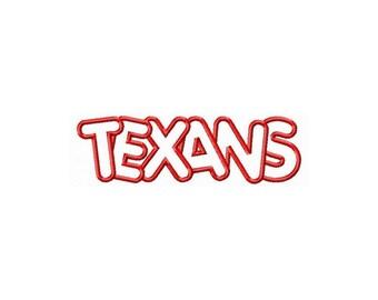 Instant Download Texans Embroidery Machine Applique Design-583