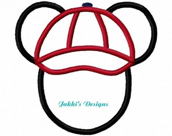 Instant Download Mouse Ears with Cap Embroidery Machine Applique Design-511