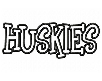 Instant Download Huskies Embroidery Machine Applique Design-581