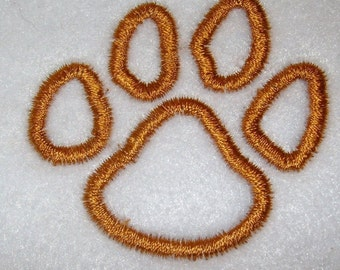 Instant Download Tiger Paw Print Embroidery Machine Applique Design-576
