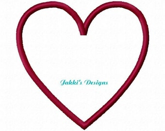 Instant Download Heart Embroidery Machine Applique Design-552