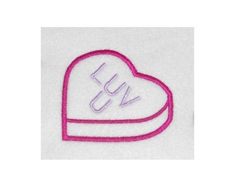 Candy Heart Embroidery Machine Applique Design-853