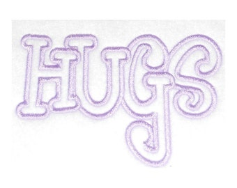 Hugs Embroidery Machine Applique Designs-866