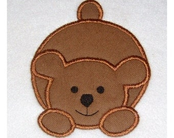 Instant Download Bear Embroidery Machine Applique Design- 615