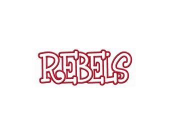 Instant Download Rebels Embroidery Machine Applique Design-882