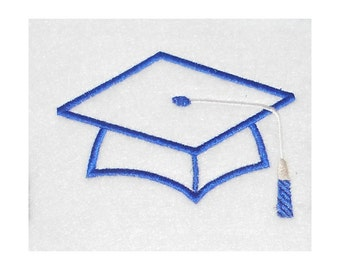 Instant Download Graduation Hat Embroidery Machine Applique Design-858